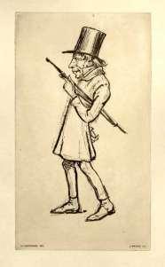 Funny little man: Contemporary Danish cartoon of Kierkegaard
